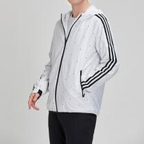 adidas男服外套夹克连帽休闲运动服DW4622