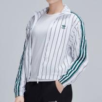 adidas阿迪達斯三葉草女裝防風服休閑條紋夾克DU9925