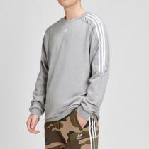 Adidas阿迪達斯三葉草男裝春季新款運動服圓領套頭衛衣DU8142