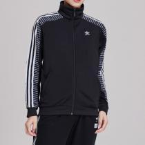 adidas阿迪達斯三葉草女裝春季運動服休閑服夾克外套DU9879