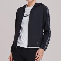 adidas女服外套夹克防风服薄款休闲运动服DW4562
