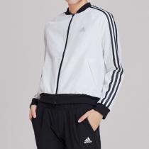 adidas女服外套夹克飞行领梭织休闲运动服DW5710