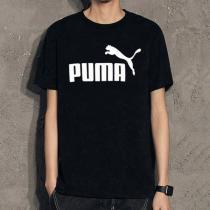 PUMA彪馬男裝春季新款跑步訓練經典LOGO款圓領短袖T恤844642