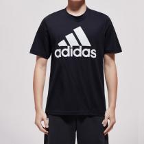 adidas男服短袖T恤基礎logoT休閑運動服DT9932