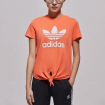 adidas阿迪達斯三葉草女裝運動休閑大LOGO短袖T恤FH8000