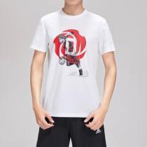 阿迪達斯男服短袖T恤籃球羅斯漫畫文化休閑運動服DU6296