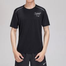 NIKE耐克男裝短袖T恤時尚涂鴉LOGO休閑健身運動服AT7841