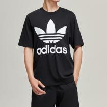 adidas阿迪達斯三葉草運動服男裝短袖T恤大LOGO款運動服CW1211