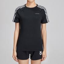 阿迪達斯女服短袖T恤綜合訓練跑步健身運動服EH8722