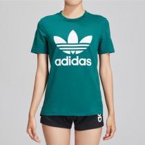 adidas阿迪達斯三葉草女裝運動服LOGO款圓領短袖T恤DV2597