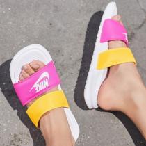 NIKE耐克女鞋拖鞋夏季新款撞色綁帶時尚潮搭忍者沙灘鞋819717