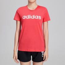 阿迪達斯女服短袖T恤logo休閑運動服DX2545