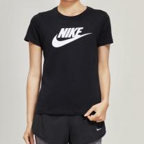 NIKE耐克女装短袖T恤经典简约圆领针织休闲运动服BV6170
