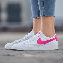 NIKE女鞋板鞋Blazer開拓者粉勾小白鞋低幫休閑運動鞋AV9370