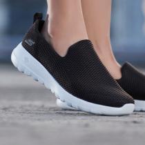 Skechers斯凱奇女鞋健步鞋舒適網布懶式運動鞋15600
