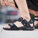 阿迪达斯男鞋凉鞋魔术贴沙滩鞋户外运动鞋EF0016