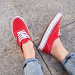 VANS范斯男鞋女鞋輕量款ComfyCushAut紅色低幫帆布鞋VN0A3WM7VNF