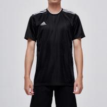 adidas阿迪达斯男子短袖T恤足球训练休闲运动服CF0679