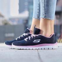 Skechers斯凱奇女鞋休閑鞋輕便簡約舒適跑步運動鞋12615