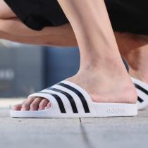 阿迪達斯男鞋拖鞋三條紋沙灘鞋游泳運動鞋F35539