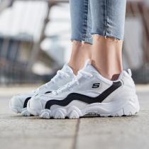 斯凯奇女鞋熊猫鞋D'lites简约舒适休闲运动鞋88888001