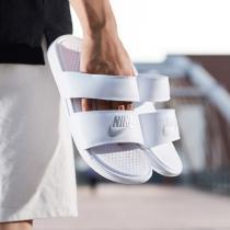 NIKE耐克女鞋拖鞋夏季新款黑白綁帶時尚潮搭忍者沙灘鞋819717