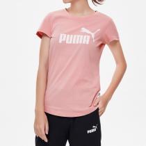PUMA彪马女装跑步训练运动服LOGO圆领休闲短袖T恤581621