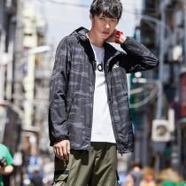 adidas男服外套夾克迷彩梭織休閑運動服DW4652