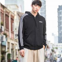 adidas男服夹克外套连帽开衫休闲运动服DQ3102