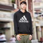 adidas男服卫衣连帽套头衫休闲针织运动服DQ1461