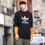 adidas阿迪達斯三葉草男子衛衣套頭衫休閑運動服CW1235