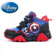 迪士尼Disney童鞋男小童4-10歲兒童漫威系列美國隊長魔術貼休閑鞋運動鞋