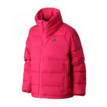 阿迪達斯女服羽絨服2020新款保暖立領面包服外套休閑運動服FT2565