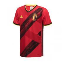 阿迪達斯男服短袖T恤20新款比利時國家隊主場球迷版運動服EJ8546