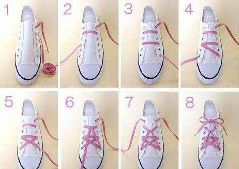 怎么系鞋带漂亮 漂亮的系鞋带方法图解图片